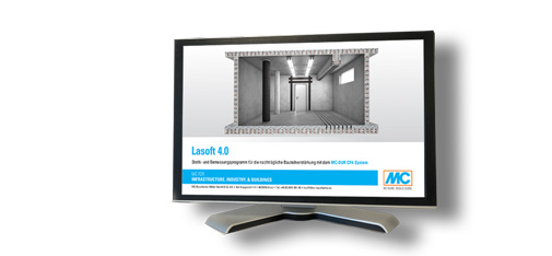 Unique software: Unlike conventional programs, Lasoft 4.0, comprises not just a dimensioning but also an extensive structural analysis capability.